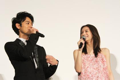 ジャッジ!妻夫木聡_北川景子舞台挨拶