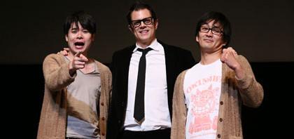 下ネタは世界共通の笑い舞台挨拶でジョニーとノブコブ意気投合
