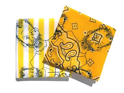 幸せの黄色いホドバンダナ