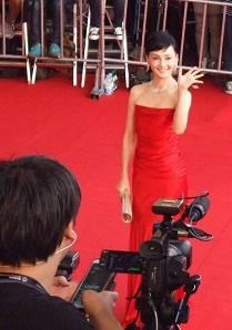 釜山国際映画祭レッドカーペット南果歩