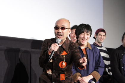 1123『日々ロック』舞台挨拶_竹中直人寿司