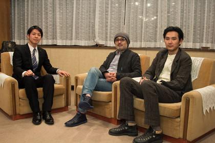 左より夕張市長、松尾さん、松田さん