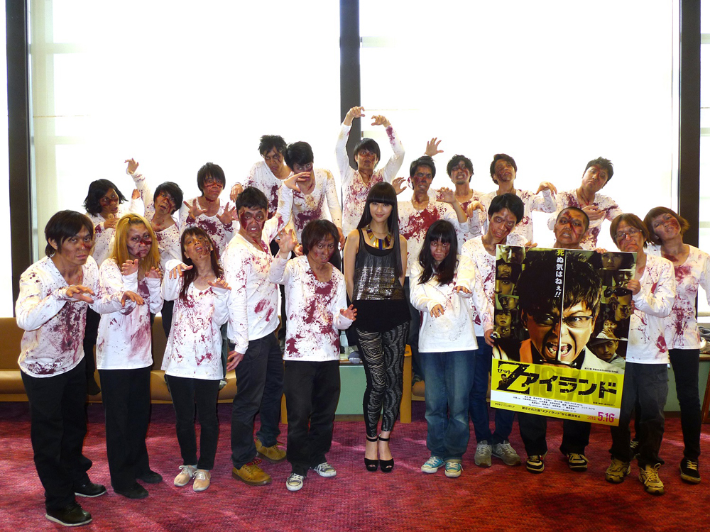 日本女子博覧会にシシド・カフカLIVEにゾンビが!『Zアイランド』