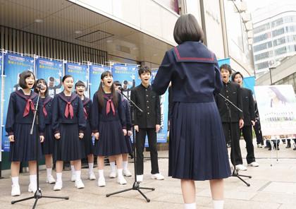 0301『くちびるに歌を』屋外合唱
