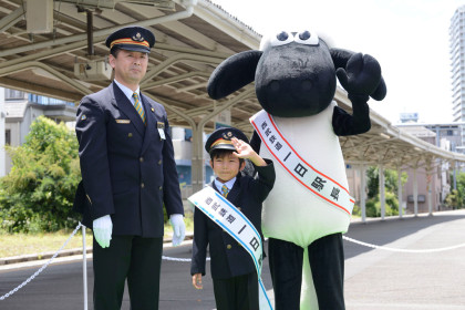 加藤憲史郎1日駅長2