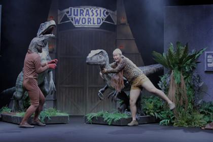 バンビーノ恐竜を捕獲!