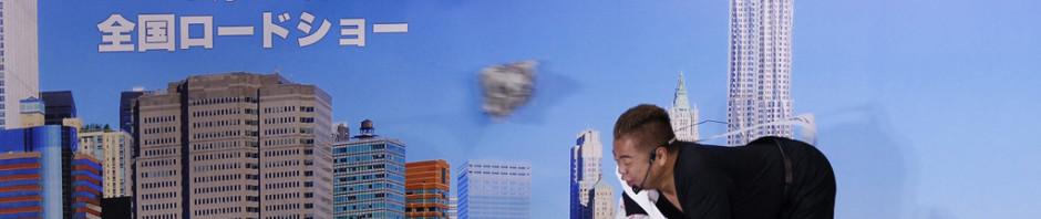出川哲朗が暴風空中ウォークに挑戦!『ザ・ウォーク』イベントで。