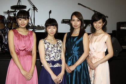左から)武田玲奈、飯田祐真、増田有華、高見こころ