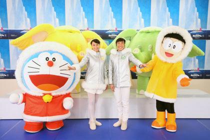 『映画ドラえもん』を織田信成と浅田舞が歌とダンスと声優で応援!