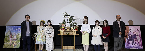 『ポッピンQ』花園神社の神主様が開運を祈願!舞台挨拶!