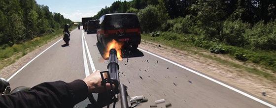 オレ視点激ヤバ機関銃乱射の激しいカーチェイス映像到着『ハードコア』