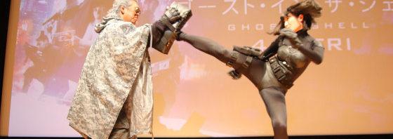 長州力バトーに武田梨奈少佐のキック炸裂『ゴースト・イン・ザ・シェル』イベント
