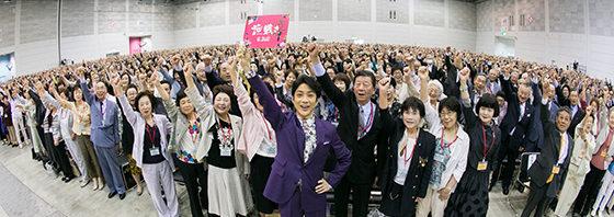 野村萬斎 福岡県・小倉でいけばなの達人と勝どきで『花戦さ』PR!