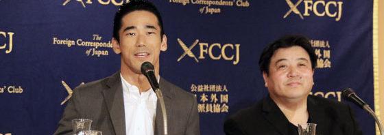 小林直己 流暢な英語披露、自ら日本語に通訳『たたら侍』日本外国特派員協会で