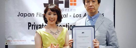 宮島沙絵『ライカ-LAIKA-』で最優秀新人女優賞受賞!JFF Los Angeles 2017