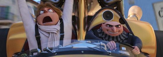 『怪盗グルーのミニオン大脱走』初登場第1位!グルーとドルー 成りすまし映像到着