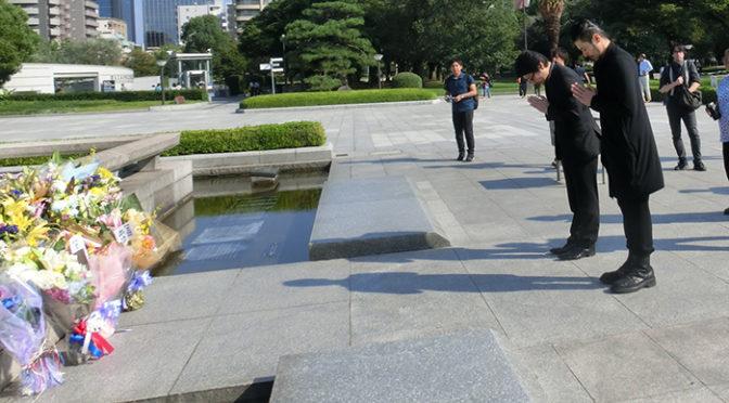 『エルネスト』ヒロシマ平和映画賞!オダギリジョー、阪本順治監督献花