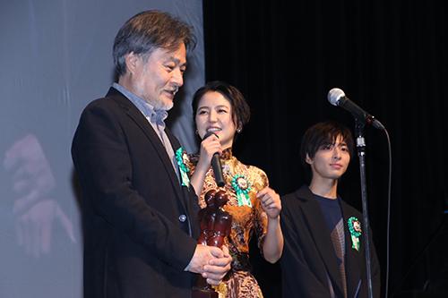 第9回TAMA映画賞授賞式_黒沢清監督 長澤まさみ 高杉真宙