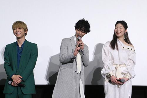 吉沢亮、上杉柊平、土居志央梨「リバーズ・エッジ」公開記念舞台挨拶