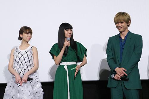 二階堂ふみ、吉沢亮、森川葵「リバーズ・エッジ」公開記念舞台挨拶