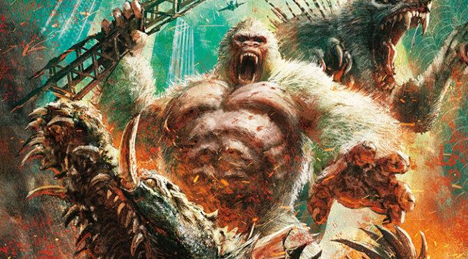巨大化が止まらない! 『ランペイジ 巨獣大乱闘』田島光二デザインの日本版オリジナルポスター解禁