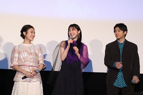 恒松祐里、坂東希(E-girls/Flower) 、山田裕貴『虹色デイズ』完成披露試写会