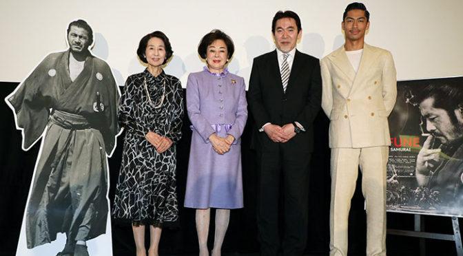 AKIRA 携帯の待ち受けは三船敏郎!『MIFUNE:THE LAST SAMURAI』初日舞台挨拶で