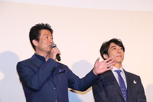 『空飛ぶタイヤ』公開記念舞台挨拶_寺脇康文