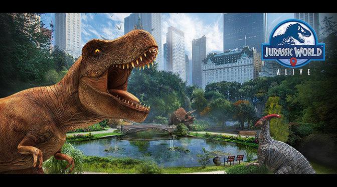携帯ARゲーム『JURASSIC WORLD™ ALIVE』 が配信開始! 映画公開直前!