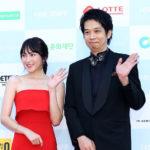 知英 凱旋!肩出しドレスでレッドカーペットに登場!第14回堤川国際音楽映画祭