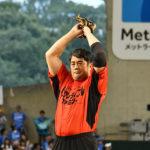 一番バッター出てこいやァ!髙田延彦 日ハム 淺間選手相手に始球式!『インクレディブル・ファミリー』