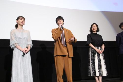 高杉真宙、Lynn、和久井映見 劇場アニメ『君の膵臓をたべたい』初日舞台挨拶