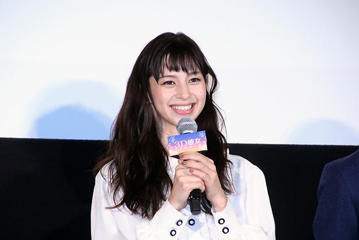 中条あやみ 公開でちょっぴり寂しそう『3D彼女 リアルガール』和気藹々初日舞台挨拶で!