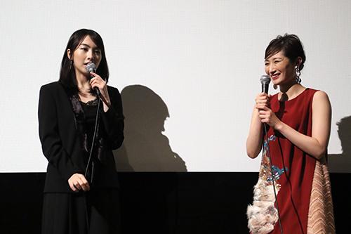 知英、武田梨奈『殺る女』完成披露