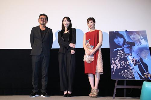 知英、武田梨奈、宮野ケイジ監督『殺る女』完成披露