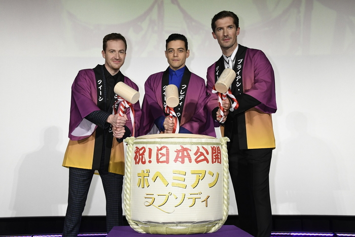 クイーンを演じたキャストが初来日!『ボヘミアン・ラプソディ』ジャパンプレミア