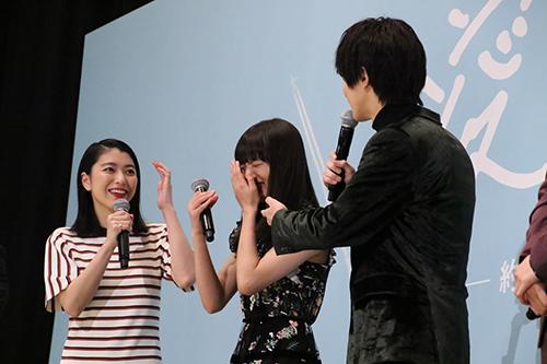 横浜流星 清原果耶 成海璃子『愛唄 ー約束のナクヒトー』完成披露舞台挨拶