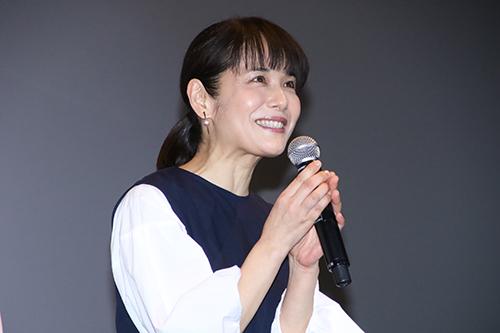 『愛唄-ー約束のナクヒトー』親子試写会 富田靖子