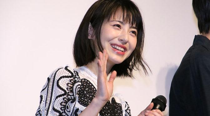 浜辺美波 松村沙友理 アイドル対決は顔で踊った「賭ケグルイ season2」完成披露で