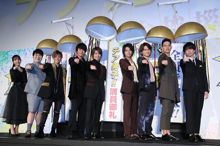 横浜流星 浅香航大の言葉に感激&ハグ 『チア男子!!』 初日舞台挨拶