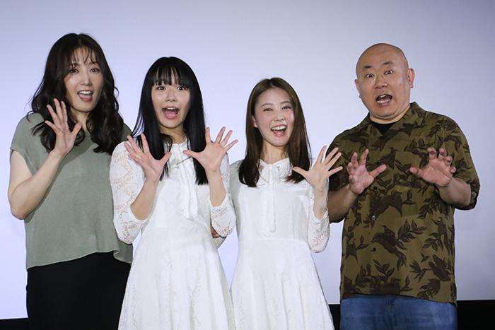 浅川梨奈x北香那 リハから100%演技合戦!「黒い乙女 Q」公開記念舞台挨拶