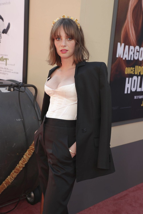"Hollywood, CA - July 22, 2019: Maya Hawke at the Premiere of Sony Pictures' ""Once Upon A Time In Hollywood"" at the TCL Chinese Theatre. (Photo by Eric Charbonneau/for Sony Pictures/Shutterstock)"