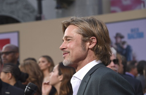 "HHollywood, CA - July 22, 2019: Brad Pitt at the Premiere of Sony Pictures' ""Once Upon A Time In Hollywood"" at the TCL Chinese Theatre. (Photo by Stewart Cook/for Sony Pictures/Shutterstock)ollywood, CA - July 22, 2019: Brad Pitt at the Premiere of Sony Pictures' ""Once Upon A Time In Hollywood"" at the TCL Chinese Theatre. (Photo by Stewart Cook/for Sony Pictures/Shutterstock)"
