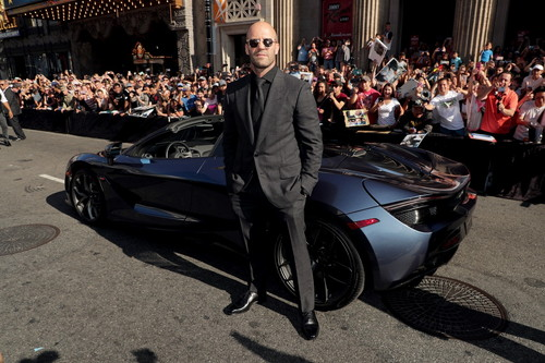 Jason Statham seen at Universal Pictures World Premiere of FAST & FURIOUS PRESENTS: HOBBS & SHAW at the Dolby Theater in Hollywood, CA on Saturday, July 13th, 2019.