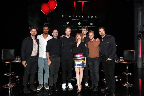 Andy Bean, Isaiah Mustafa, James Ransone, Bill Hader, Jessica Chastain, Andy Muschietti, Director, James McAvoy, Jay Ryan