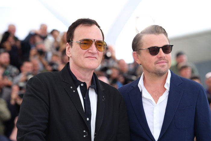 """CANNES, FRANCE - MAY 22: Quentin Tarantino and Leonardo DiCaprio attends thephotocall for """"Once Upon A Time In Hollywood"""" during the 72nd annual Cannes Film Festival on May 22, 2019 in Cannes, France."""