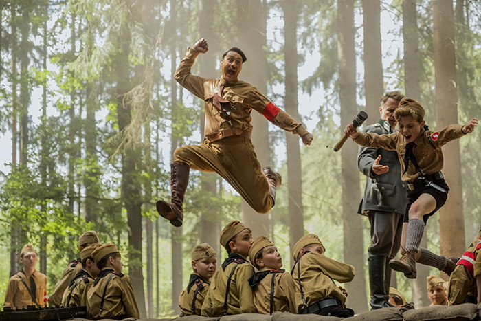 Taika Waititi and Roman Griffin Davis in the film JOJO RABBIT. Photo by Kimberley French. © 2019 Twentieth Century Fox Film Corporation All Rights Reserved