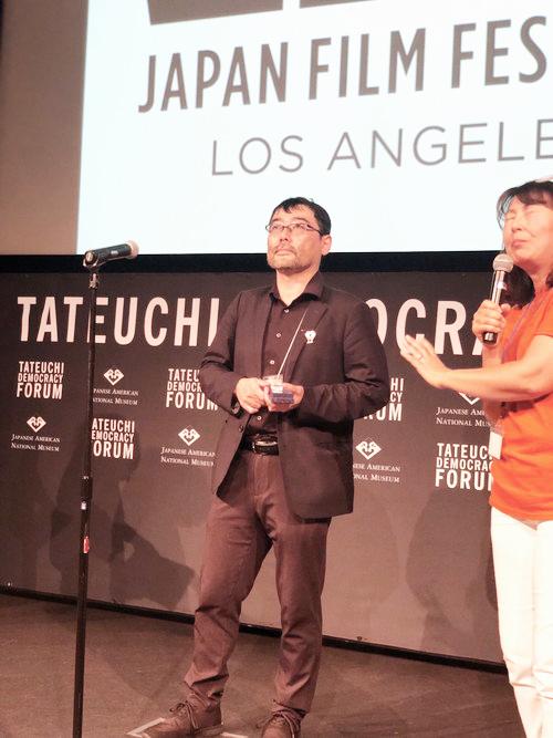 武正晴‗ロサンゼルス日本映画祭授賞式