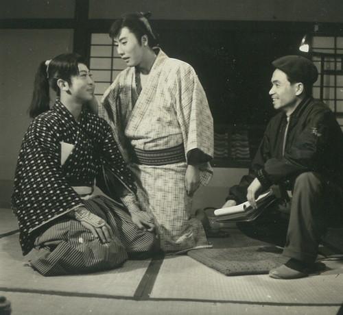 市川雷蔵祭「旅はお色気」オフショット写真(C)KADOKAWA1961