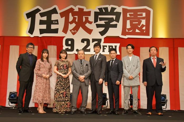 西島秀俊、西田敏行ら登壇!映画『任俠学園』完成披露試写会